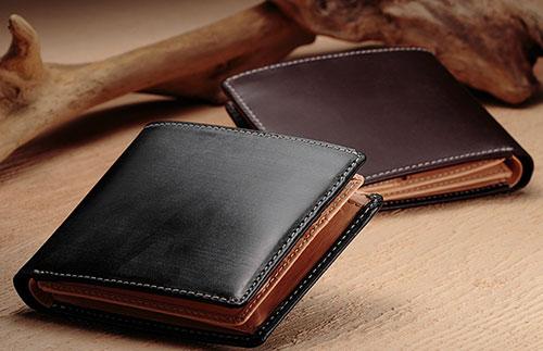 ブライドルレザー二つ折り財布 彼氏の誕生日プレゼントで人気