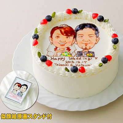 サプライズな似顔絵ケーキ