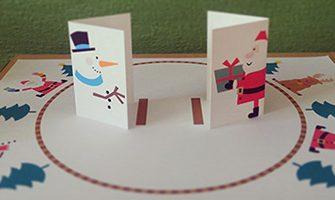 トントン紙相撲を作って遊ぼう! <クリスマスバージョン>