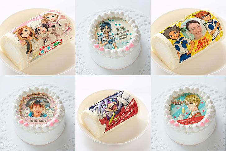 人気の漫画・アニメキャラクターデザインの誕生日ケーキがオーダーできるプリロール