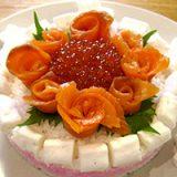 母の日に「ごはんで作るバラの寿司ケーキ」を作ってみた!