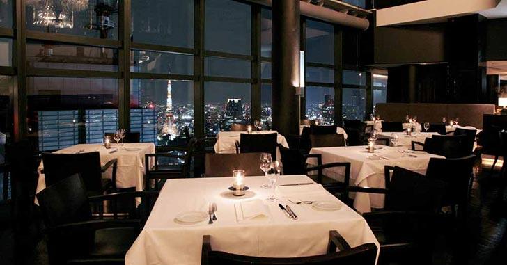 キレイな夜景が見えるレストラン
