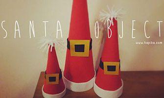 サンタ風クリスマスオブジェの作り方