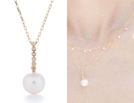 sowi 【K18パールジュエリー】ペティヤン/パール・ダイヤモンド、ネックレス