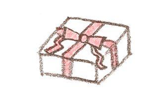 プレゼントのイラスト素材(斜め俯瞰)