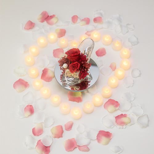 【サプライズ演出】LEDキャンドル24個と花びら100枚セット