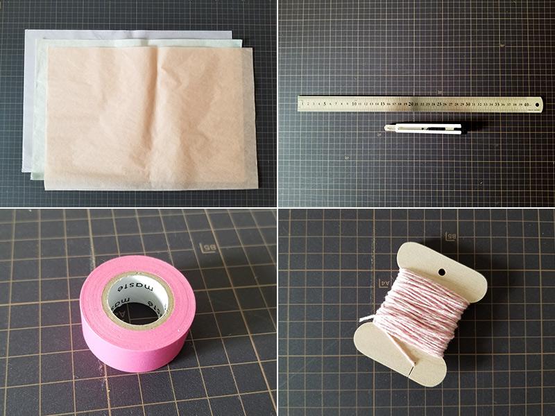 タッセルガーランドの作り方 用意するもの(材料・道具)
