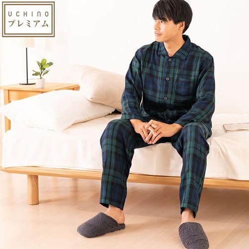 快眠パジャマ〜マシュマロガーゼ・タータンチェックメンズパジャマ