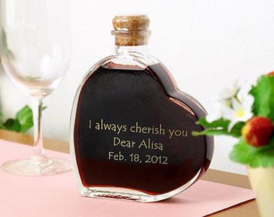 【名入れ】スウィートワイン 12年 ハート型ワイン バレンタインプレゼント