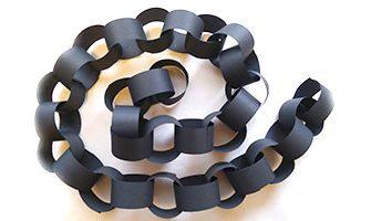 輪飾りを短時間で効率よく作る方法