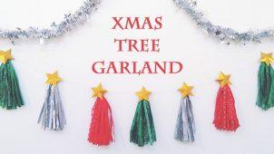 クリスマスツリーみたいなタッセルガーランド