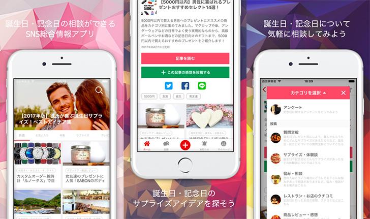 HAPiBA(ハピバ)アプリの使用イメージ