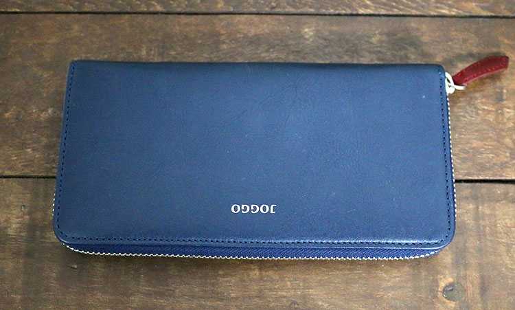 デザインした財布を仕上がり