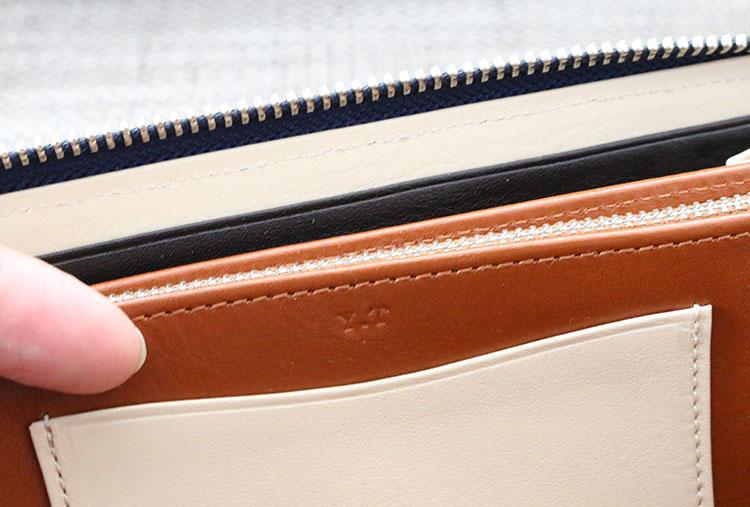 財布の内側に名入れ