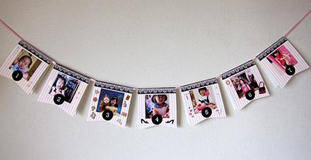 写真が飾れるガーランドの作り方