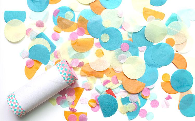 プッシュポップコンフェッティの作り方 紙吹雪のクラッカー