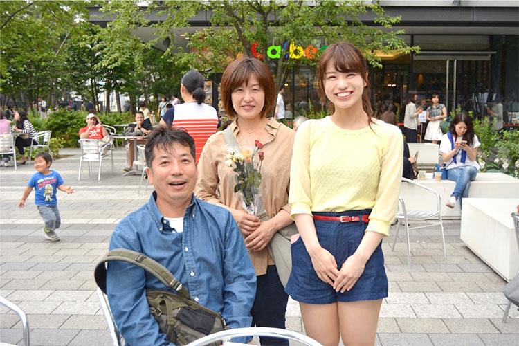 東京ソラマチでの子供から両親へのフラッシュモブ