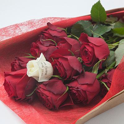 プロポーズの花束 12本のバラ