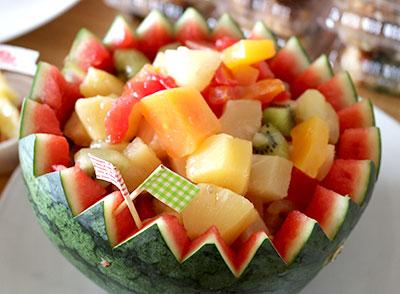 スイカのフルーツポンチ 夏のパーティー料理