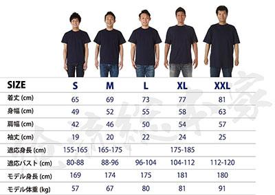 Tシャツのサイズ