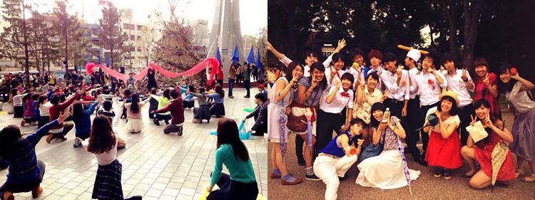 早稲田大学 フラッシュモブ