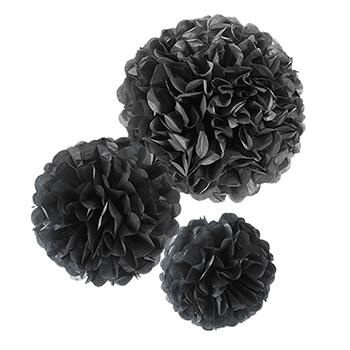 【フラワーポムパッケージ】 ブラック 黒