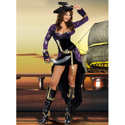 ハロウィン衣装 ハロウィン セクシー コスプレ衣装 コスチューム 海賊 パイレーツ ドレス ダーク