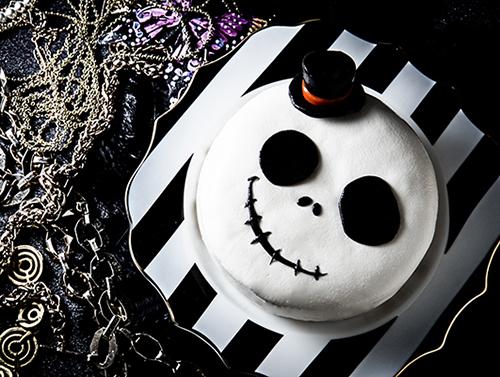 ハロウィン2019 立体骸骨ケーキ skull ドクロ ジャック・スケリントン風