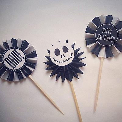 ハロウィンロゼットパーティーピックの作り方