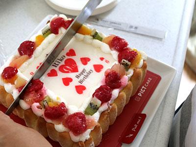 ピクトケーキの切り分け