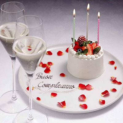 リストランテ アッティモ Ristorante ATTIMO 誕生日ケーキ