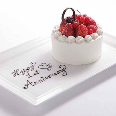 レス アルカーナ 広尾の誕生日&プロポーズケーキ