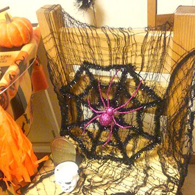 クモの巣オーナメント ハロウィンコーディネート 100均