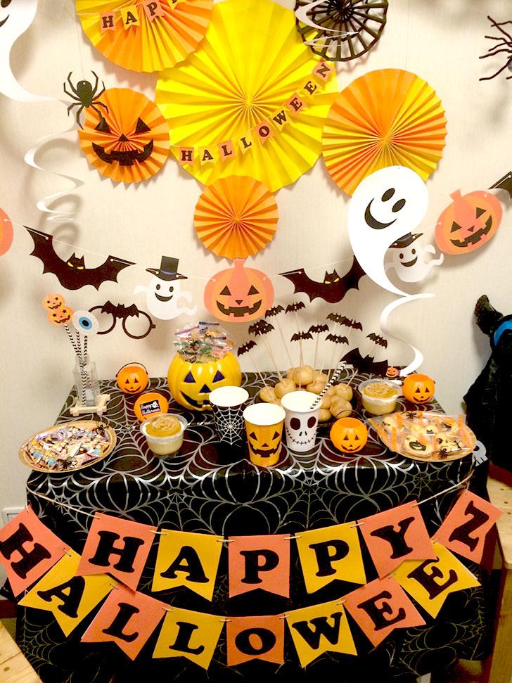 ハロウィンデコレーション テーブルを中心に飾り付けよう!