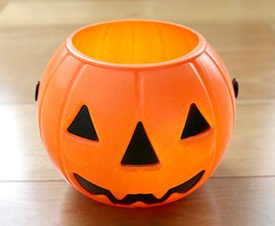 ハロウィンかぼちゃポット 丸形 100均ハロウィングッズ