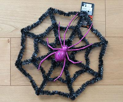 ハロウィンキラキラオーナメント クモの巣