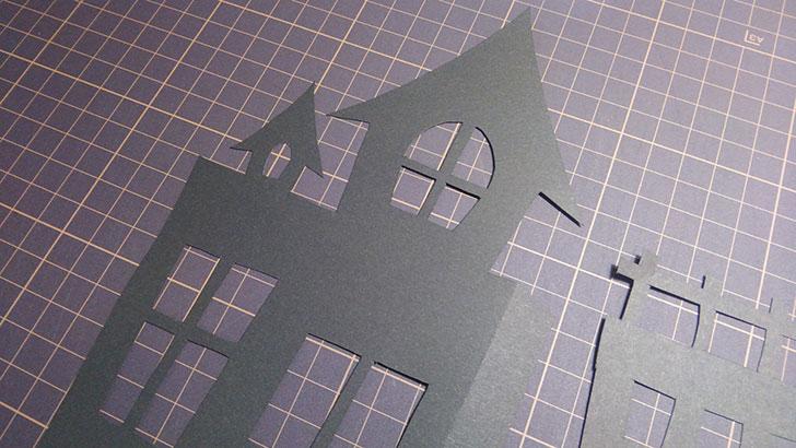 ホーンテッドハウス ポップコーンボックス 作り方 切り抜く