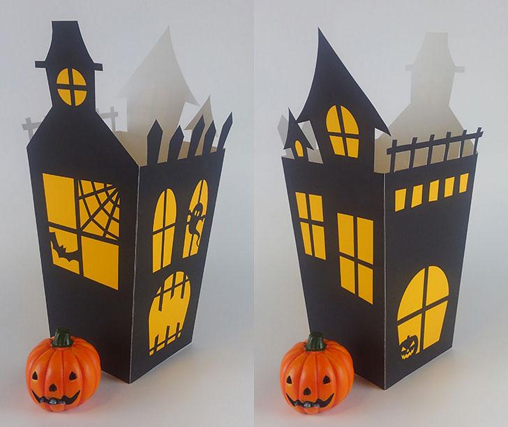 ホーンテッドハウス ポップコーンボックス 型紙をそのまま利用する