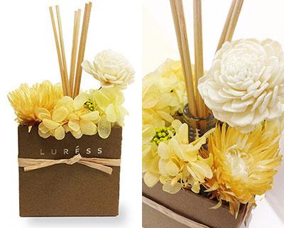ディフューザー【黄色系】 byLURESS FLOWERS  3000円以内プレゼント 女性