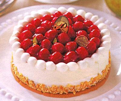 シュス木苺レアチーズケーキ 5号サイズの誕生日ケーキ カサミンゴー