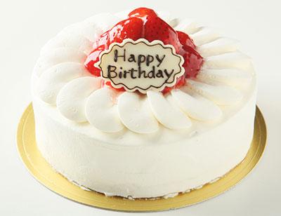 生クリーム苺デコレーションケーキ 5号サイズの誕生日ケーキ