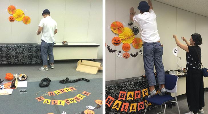 湾岸キッズ ハロウィンパーティーイベントの飾り付け フォトブース作り