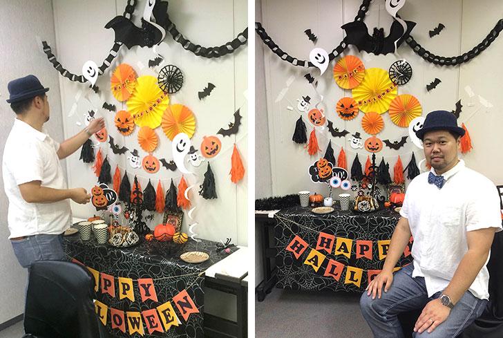 湾岸キッズ ハロウィンパーティーイベントの飾り付け フォトブース作り-2