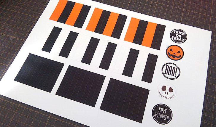 素材を印刷する ロゼットパーティーピックの作り方