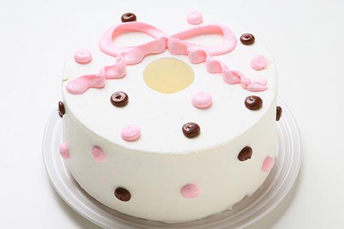 ポップリボン~シフォンケーキ おしゃれなバースデーケーキ
