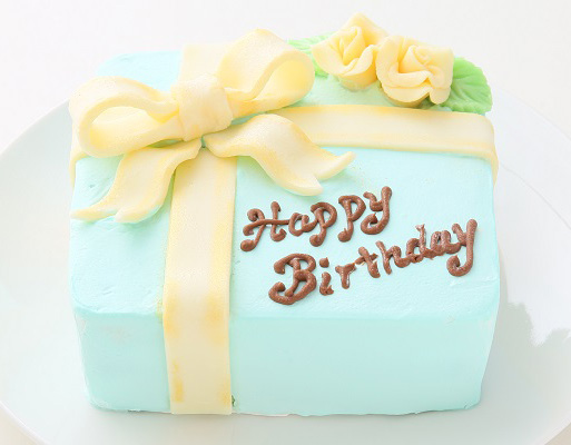 プレゼントボックス Tブルー バースデーケーキ おしゃれ