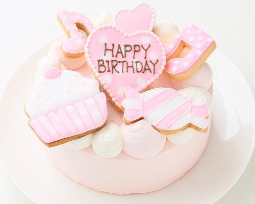 アイシングクッキー乗せ プリンセスケーキ