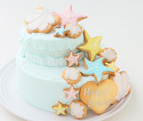 海のデコレーションケーキ