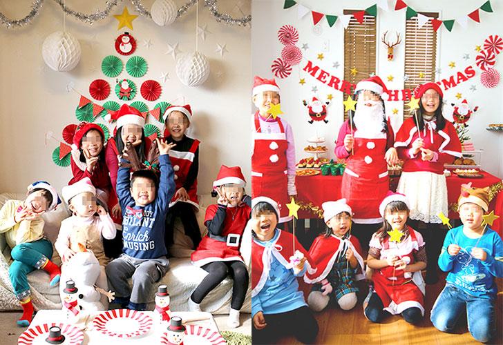 クリスマスパーティーの記念撮影