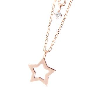 星空でサプライズ 星のネックレス